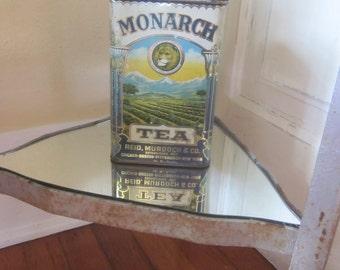 Vintage Monarch Tea Storage Tin British Colonial