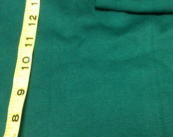 Hunter Green Rib Knit Lycra Blend