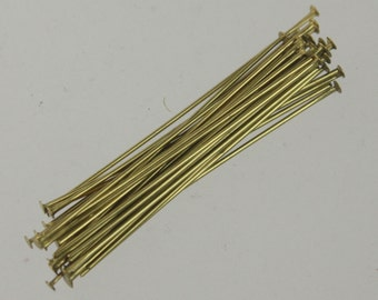 250 pcs of RAW Brass round headpin - 38mm/1.5 inch 22 gauge - Ship from California USA