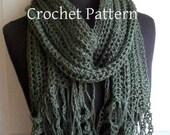 Crochet Pattern for Bliss scarf Boho Tassel Scarf