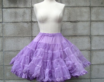 Purple Crinoline Vintage Super Full Soft Skirt Tutu Petticoat Women's size M