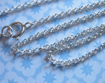 "Shop Sale.. 1 pc, 16 18 20 22 24"", Sterling Silver Chain - Finished Chain, ROLO CHAIN, 1.5 mm, solo. done d2.d d2.20 d2.22 d2.24 d2.30 hp"