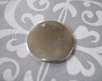 Shop Sale..1 pc, Sterling Silver Blanks Discs, 18.5 mm, 3/4 inch, 24 gauge, Circle Round, custom personalize. blank18hp jd
