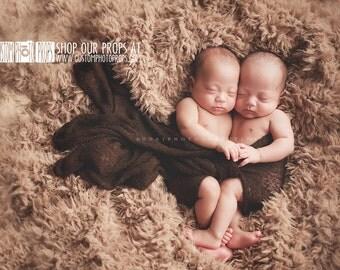 SuPeR SiZe Teddy Bear Tan Faux Fur Blanket Newborn Photo Props, Blanket - Photography Props, Fake Fur, Baby Props, Short Fur