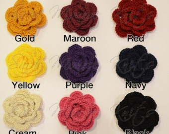 Flower broach with pin -- any color of your choice.