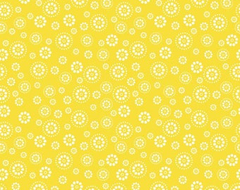 Evening Blooms Petals in Yellow by Carina Gardner for Riley Blake Designs - 1 Yard