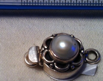 Pearl Box Clasp Sterling Silver