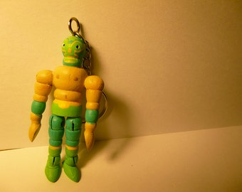Articulated Model Keychain - Lucha Verde