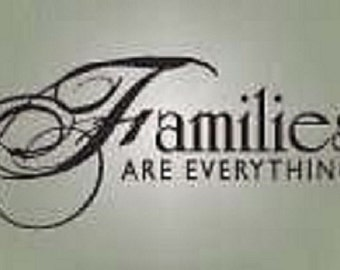 DIY Family wall decal Vinyl lettering wall word Quotes sticky letters decals Families are everything