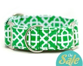 "Sale! Waterproof Martingale Collars - ""Honey Child"" - Waterproof Dog Collars - Green Martingale Dog Collars"