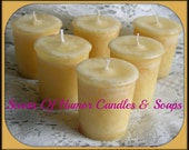 CREME BRULEE Scented Votive Candles - Hand Made Votive Candle - Highly Scented -  Set Of 6 In Gift Box - Hand Poured - Made in USA