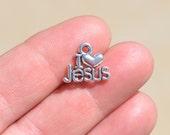 1  Silver I Love Jesus Charm SC1102