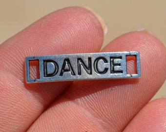 10  Silver DANCE Connectors Charms SC2228