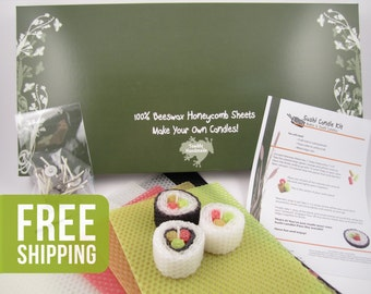 Beeswax Sushi Candle Kit - Free Shipping!