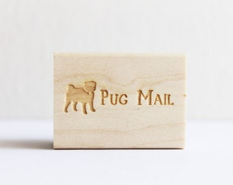 Rubber Stamp - Pug Mail