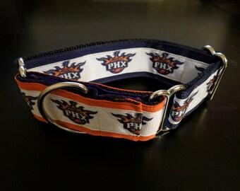 Phoenix Suns martingale style dog collar (Med)
