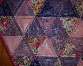 Pink & Purple Easter Egg Quilted Table Topper