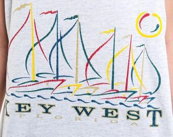 The Vintage Key West Florida Heather Grey Tank