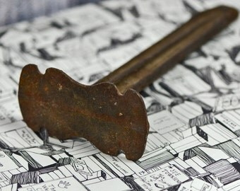 ANTIEKE gietijzeren schoenmakers tool...   De Decor van het huis...   Industriële... primitieve t12 Laf