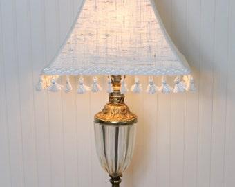Ivory Lamp Shade Lampshade Pendant Ivory and Caramel Silk