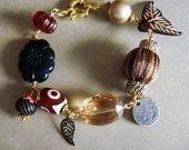 Bohemian chic beaded charm bracelet CLEARANCE