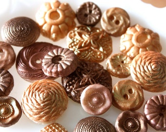 Vintage candy buttons-edible wooden candy buttons-wood grain-edible decorations-cake decor ions-cookie decorations