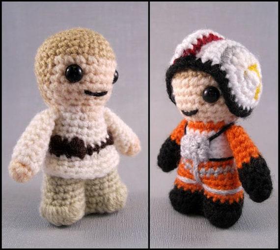 Amigurumi Star Wars Crochet Patterns : Pdf of luke skywalker star wars mini amigurumi by