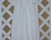 Girls 6/7 Party Dress Special Occasion White on White Flower Pillowcase Dress Pillow Case Dress Sundress