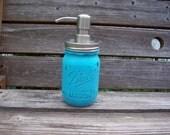 Painted Mason Jar Soap Dispenser - 1 Pint Size painted and distressed mason jar