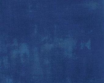 Cobalt Grunge by Basic Grey Moda half yard