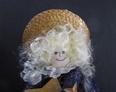 Ms. Shining Star OOAK handmade muslin doll with gold star