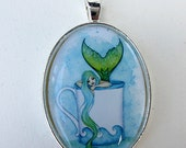 SALE Coffee Mermaid necklace by Amy Brown