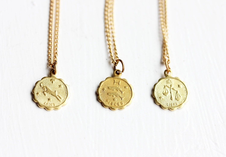 zodiac charm necklace astrology charm necklace gold zodiac