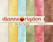 Shabby  Family Tree Backgrounds - Instant Download-High Res-Digital - We Are Family Solids