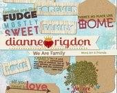 Word Art - Family Theme - Instant Download-High Res-Digital - We Are Family