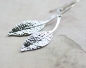 Falling leaf - Sterling silver earrings