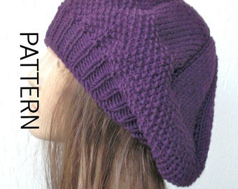 Knitting Pattern Instant Download  hat pattern, Digital  Hat Knitting PATTERN PDF , French  Beret  Pattern  French Beret  fall Fashion