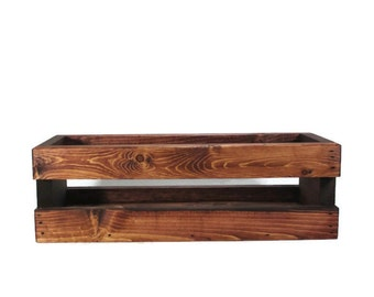 Small Wood Crate for Home, Garden, or Wedding Centerpiece