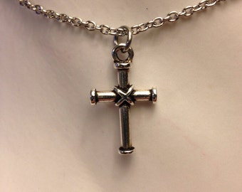 Wrapped cross necklace