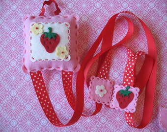 Strawberry Hair Clip And Bow Holder