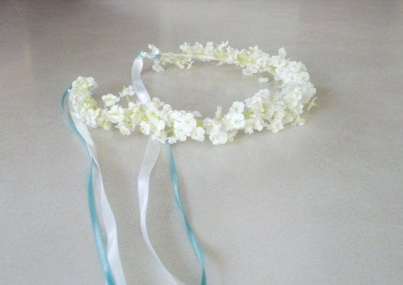 Flower Girl Halo Wedding Bridal Party Hair Accessories White Bridal