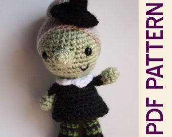 Amigurumi Crochet Lil Halloween Witch Doll pdf Pattern