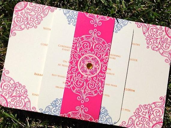 Graha shanti wedding invitations