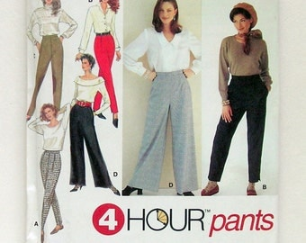 Ladies' Quick and Easy Classic Pants - Simplicity 8623 - Vintage Sewing Pattern, Sizes 10, 12, and 14