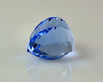 Blue Quartz Large Briolette Gemstone Focal - Special Cut - Onion Cut with Twist - 28ct