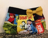Star Trek Print clutch with Yellow Bow
