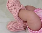 Instant Digital File PDF Download - Baby's First Booties Bootees  knitting pattern