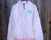 Monogrammed Pullover, Rain Jacket, Half-Zip Pullover, Monogrammed Rain Jacket, Charles River,