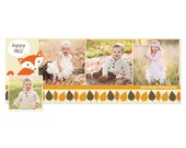 Fall Facebook Timeline Template for Photographers - Autumn Fox - INSTANT DOWNLOAD