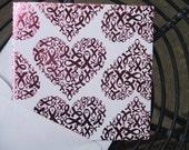 Mini Square Pink Ribbon notecards (Set of 12)